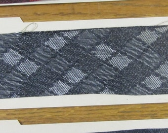 BTY mid century 1950s  auto upholstery woven plastic lattice design 3 CHOICES