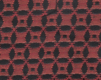 3 large remnants very cool 1960 Chrysler red and black geometric design upholstery