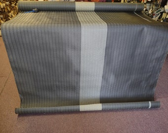 BTY 1950s Black and Gold Panelled Woven Plastic Auto Upholstery