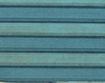 ROLL END 1.25 yards 1963 Rambler padded channel turquoise stripe