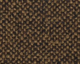 BTY vintage 1979 Ford Econoline brown and gold tweed upholstery fabric