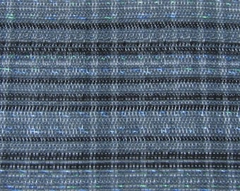 ROLL END 1.5 yards 1961 Ford upholstery blue black metallic plaid