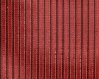 2 + yards 1963 Chevrolet red and black stripe upholstery