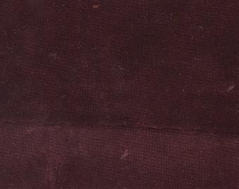 BTY Vintage Dark Burgundy Plush Velour Auto Upholstery