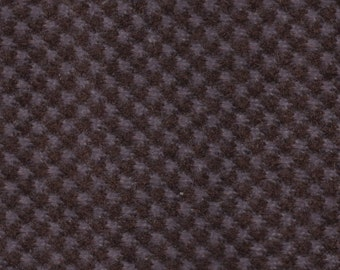 BTY Vintage Brown Checkerboard Plush Velour Auto Upholstery