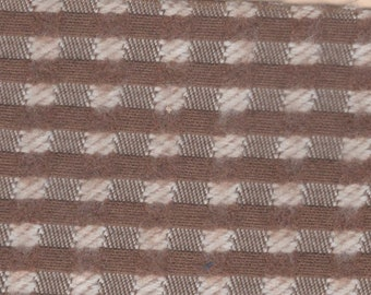 BTY vintage 1977 Mercury Cougar XR-7 brown checked upholstery