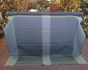 BTY mid century 1960 Chevrolet silver and black striped panel upholstery fabric