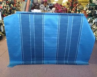 BTY mid century 1969 American Motors Rebel blue stripe panel upholstery