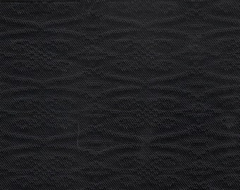 BTY 1971 Pontiac Catalina/LeMans black quilted upholstery fabric