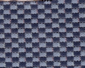 Almost 3 Yards Vintage Black & Grey Checkerboard Auto Upholstery