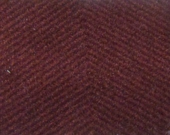 BTY vintage red velvet chevron 1987 Plymouth auto upholstery