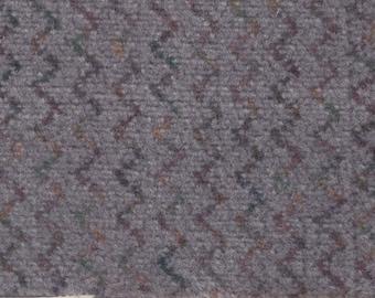 BTY Vintage Grey Plush Velour Auto Upholstery w/ Zig Zag Pattern