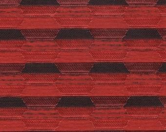 1 yard really cool 1961 Pontiac reddish orange and black auto upholstery fabric