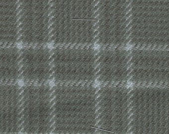 BTY vintage grey and white plaid auto upholstery fabric
