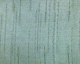 BTY mid century green satin auto upholstery abstract design