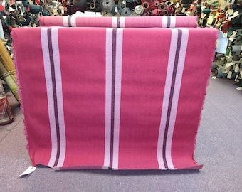 BTY vintage 1986 Chevrolet Cavalier wide red striped upholstery