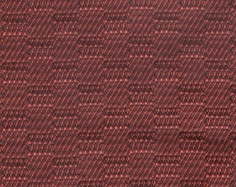 BTY vintage 1967 Pontiac upholstery fabric woven red checkerboard