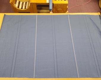 1 yard 1969 Chevrolet Nova Custom blue panel upholstery fabric