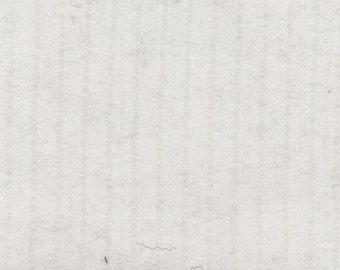 BTY Vintage White Plush Velour Auto Upholstery w/ Ridges