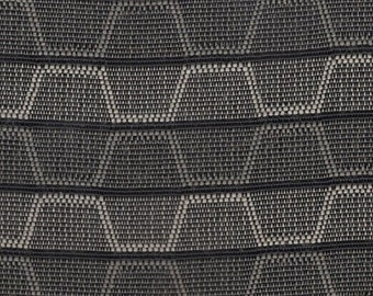 BTY vintage 1967 Chrysler grey and black geometric design upholstery