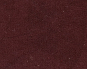 BTY Vintage Burgundy Suede Cloth Auto Upholstery