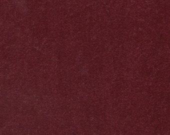 1 1/3 Yards Vintage Dark Red Plush Velour Auto Upholstery