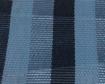 ROLL END 1.25 yards vintage car upholstery blue stripes