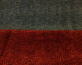 1976 Chevy upholstery fabric chevrons with chenille finish red or blue