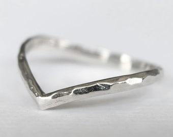 200dd085f4 chevron ring, thumb ring, v ring, stacking ring, midi ring, silver chevron  ring, v shaped ring, knuckle ring, silver thumb ring, chevron