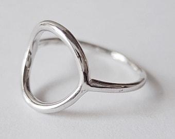 open circle ring, open circle ring, silver circle ring, minimalist ring, geometric ring, eternity ring, minimalist jewelry, modern ring