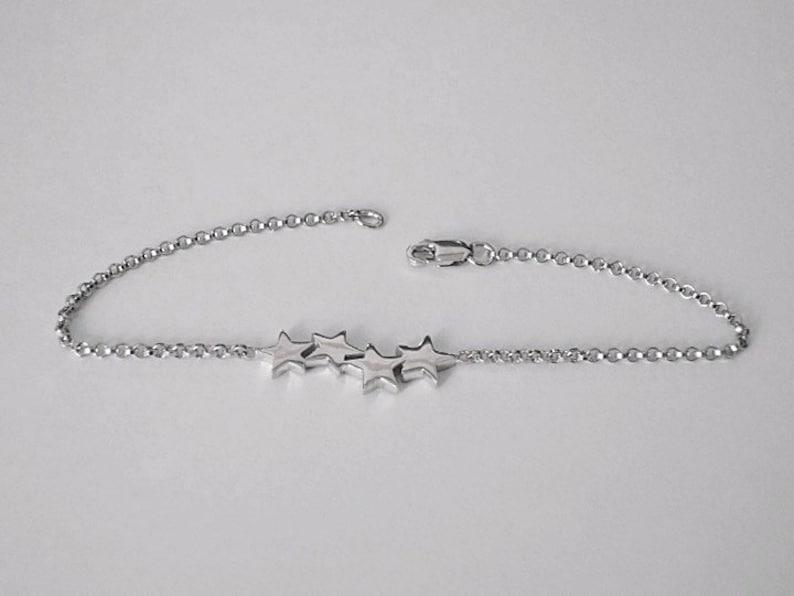 star bracelet bridesmaid bracelet silver star bracelet tiny star dainty bracelet star jewelry friendship bracelet moon bracelet