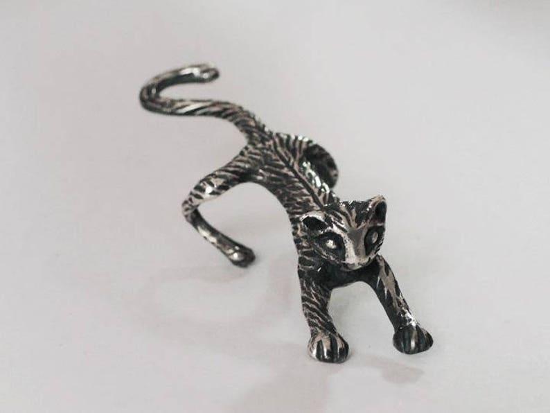 animal ear cuff ear climber silver ear cuff silver ear cuff earcuff cat earring ear cuff climber cat animal jewelry ear cuff cat