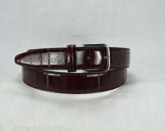 ed2684a97e Cintura lucida da uomo in vera pelle di anguilla. Vari colori. Altezza 3.5  cm. Fibbia in nichel lucido. Prodotto artigianale fatto a mano.