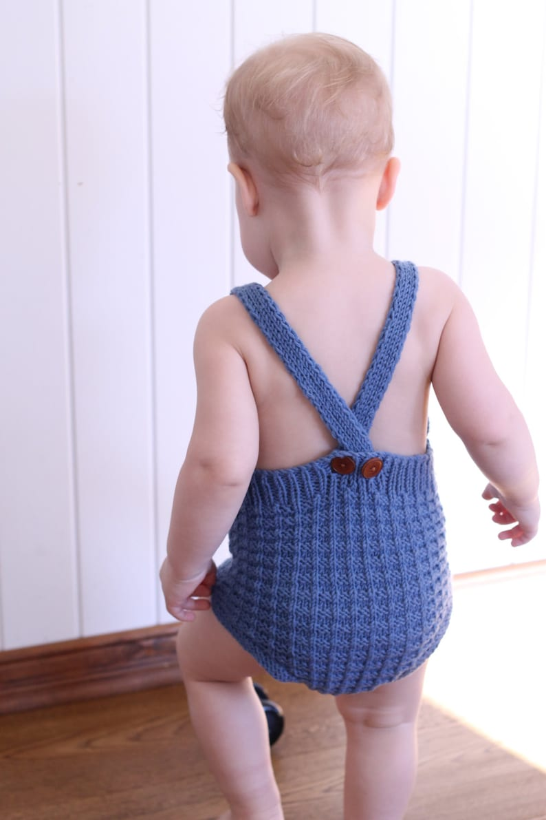 e7640eac5 Baby romper knitting pattern easy knitting download pdf
