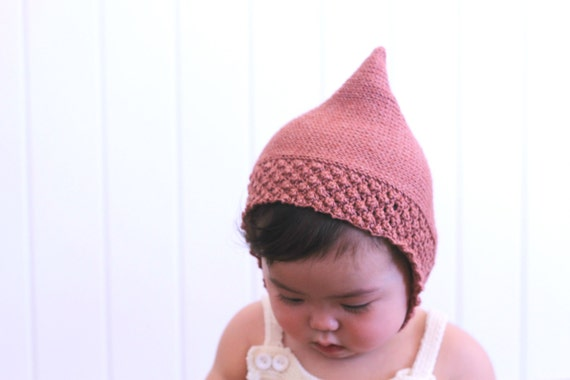 Knitting pattern baby pixie hat baby toddler pixie bonnet | Etsy