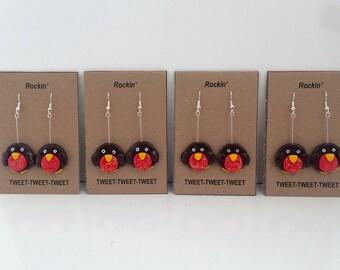 Robin Christmas Earrings