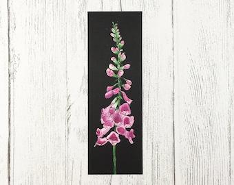 Floral Bookmark / Teacher Gift / Gift For Book Lover / Gifts for Her / Foxglove Design / Birthday Gift For Mum / Flower Bookmark