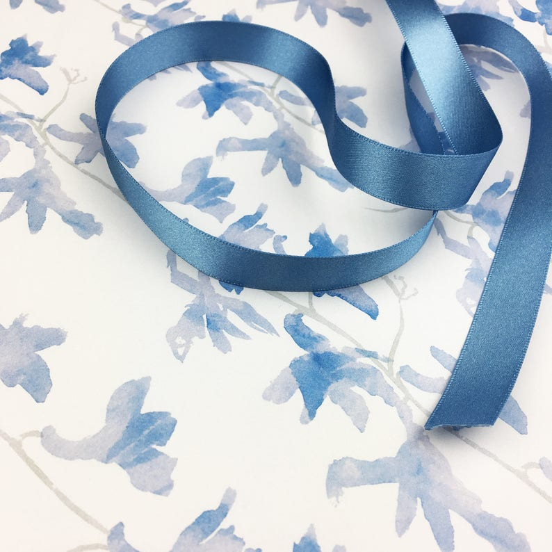 available with matching gift tags and ribbon optional Luxury floral Delphinium wrapping paper for weddings and birthdays
