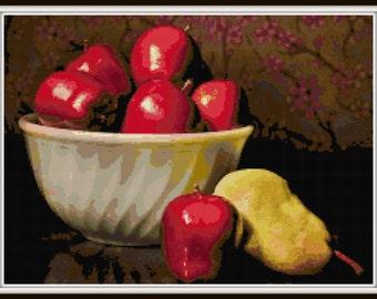 Fruit Cross Stitch Pattern - PDF Download - Instant Access