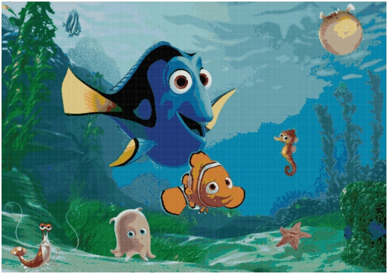 Finding Nemo Cross Stitch Pattern Finding Dori PDF Download