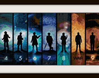 Dr Who Cross Stitch Pattern with 13th Doctor Add On
