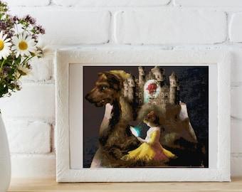 A True Love Story Cross Stitch Pattern - Diogo Verissimo Series - Beauty and the Beast Cross Stitch Pattern