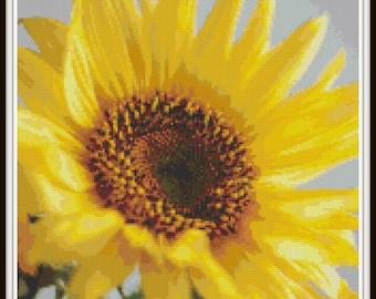 Sunflower Cross Stitch Pattern, PDF Download - Instant Access