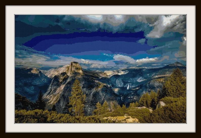 Mountain Scenery Cross Stitch Beautiful Mountain Cross Stitch