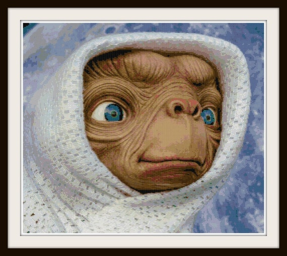Et Cross Stitch Pattern Et Phone Home Alien
