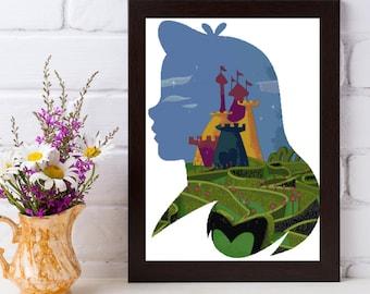 Wonderland Lady Cross Stitch Pattern - UrbanStar Princess Series - Alice in Wonderland Cross Stitch Pattern