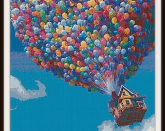 Up Cross Stitch Pattern - Disney Cross Stitch Pattern - Up