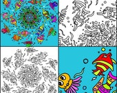 Kleurplaten Van Onderwaterdieren.Items Op Etsy Die Op Leuke Kleurende Pagina S Zee Leven Onderwater