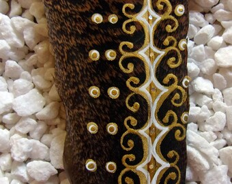 """10"""" Embellished hand painted wild turkey feather"""