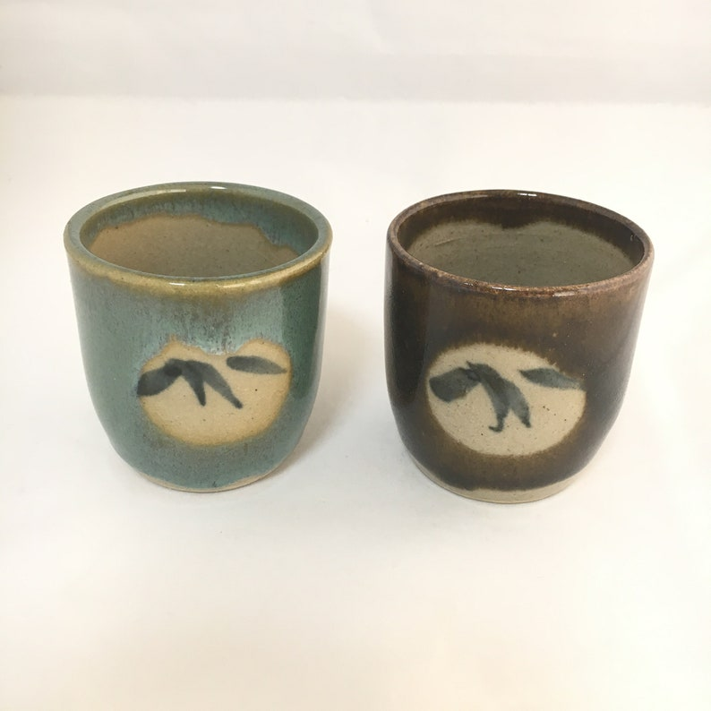 Ceramic Tea Cup, Asian Ceramic Cup, Rustic Bohemian Style, Handmade  Pottery, Sake Cup, Japanese Decor, Rustic Drinkware, Asian Drinkware